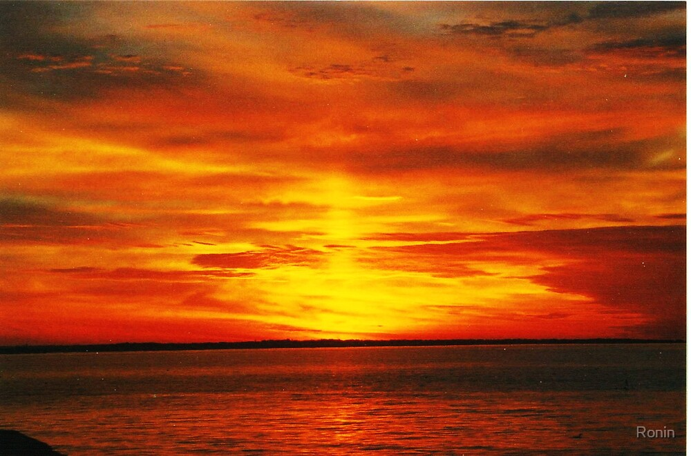 Pier Sunrise I by Ronin