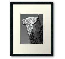 Theatre Plaza Framed Print