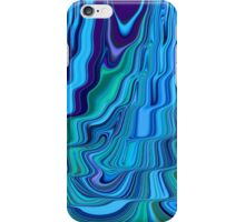 Blue Tones Flowing Together Abstract Design Pattern Art iPhone Case/Skin
