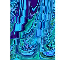 Blue Tones Flowing Together Abstract Design Pattern Art Photographic Print