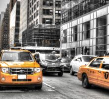 Yellow Taxis....New York City Sticker