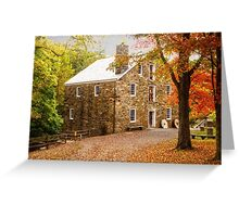 Cooper Grist Mill in Autumn Greeting Card