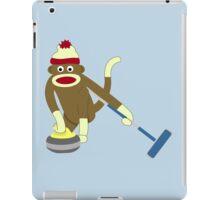 Sock Monkey Curling iPad Case/Skin