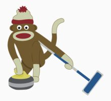 Sock Monkey Curling Kids Clothes