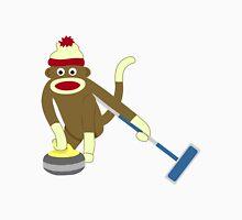 Sock Monkey Curling Unisex T-Shirt