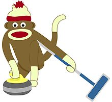 Sock Monkey Curling by pounddesigns