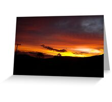 Brazilian Dusk Greeting Card
