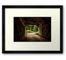 Cabin Run Bridge I Framed Print