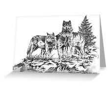 Wolf Ridge Timber Wolf Illustration Greeting Card