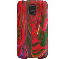 Red Green Blue Ribbon Abstract Design Pattern Holiday Samsung Galaxy Case/Skin