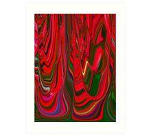 Red Green Blue Ribbon Abstract Design Pattern Holiday Art Print