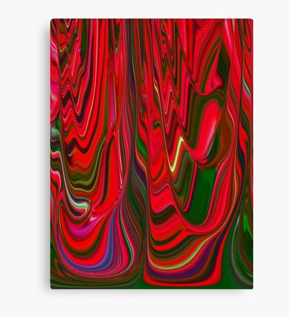 Red Green Blue Ribbon Abstract Design Pattern Holiday Canvas Print