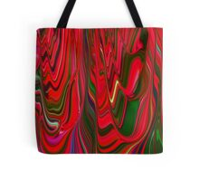 Red Green Blue Ribbon Abstract Design Pattern Holiday Tote Bag