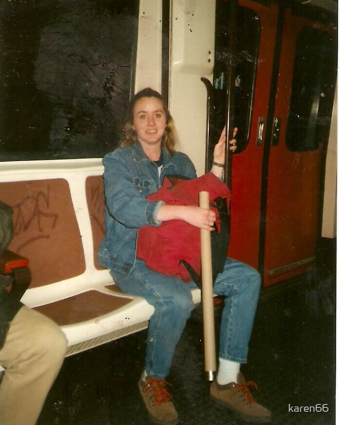 Me on the Metro in Madrid Spain by karen66