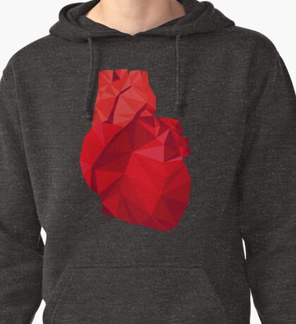 Polygon Heart Pullover Hoodie