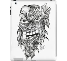 Fight The Rage Drawing Unique Art Design Black and White iPad Case/Skin