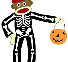 Sock Monkey Halloween by pounddesigns