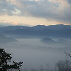 Gatlinburg Tn Foggy Mountain Morning by Raymond Desjardin