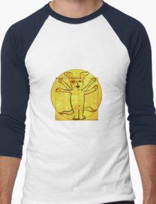 Dog Vinci  Men's Baseball ¾ T-Shirt