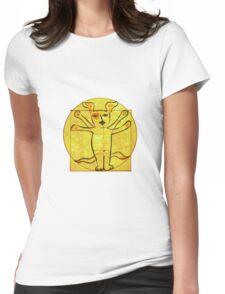 Dog Vinci  Womens Fitted T-Shirt