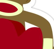 Sock Monkey Heart Sticker