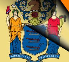New Jersey Gay Pride Rainbow Flag Sticker