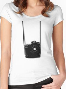 Camera shirt 2 - for Nikon users Women's Fitted Scoop T-Shirt