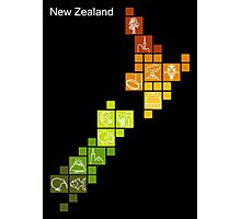 New Zealand Fun Map Photographic Print