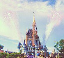 Castle & Fireworks by LorenElise
