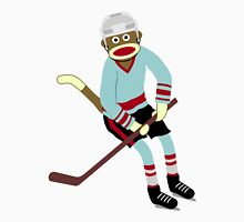 Sock Monkey Hockey Player Unisex T-Shirt