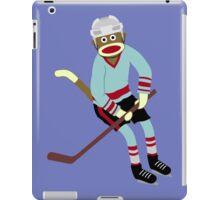 Sock Monkey Hockey Player iPad Case/Skin