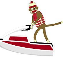 Sock Monkey Jetski by pounddesigns