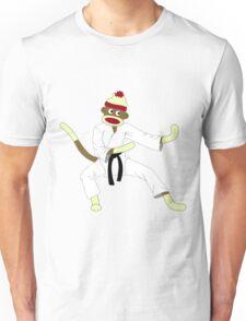 Sock Monkey Karate Unisex T-Shirt