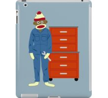 Sock Monkey Mechanic iPad Case/Skin