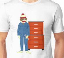 Sock Monkey Mechanic Unisex T-Shirt