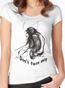 don't turn away Women's Fitted Scoop T-Shirt