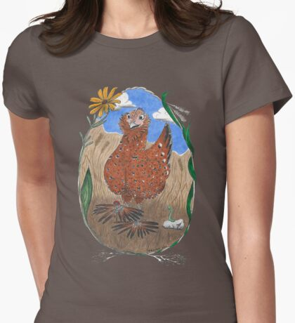 Henrietta Chicken Womens Fitted T-Shirt