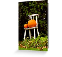 Pumpkin Throne Greeting Card