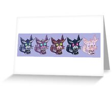 Kitty is for Feral : Cats in a Row Greeting Card