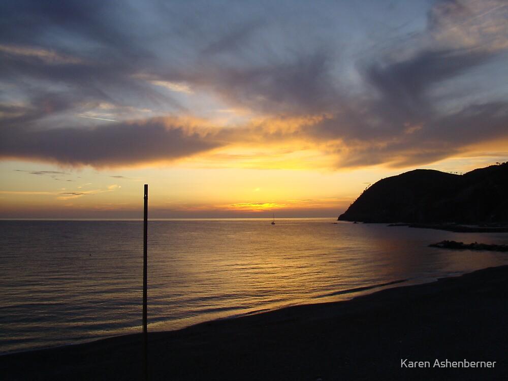 Sunset in Levanto by Karen Ashenberner