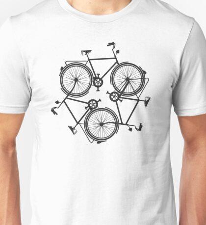 cycling infinity - vintage keep biking - bike triforce pattern Unisex T-Shirt