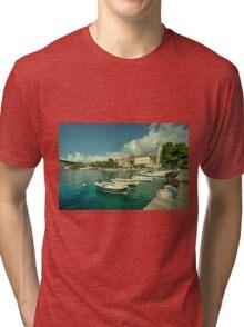 Cavtat Harbour  Tri-blend T-Shirt