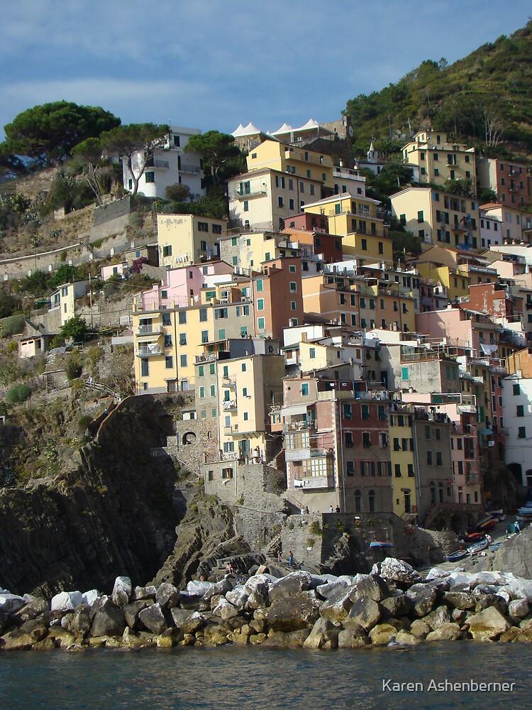 Village in Cinque Terre by Karen Ashenberner