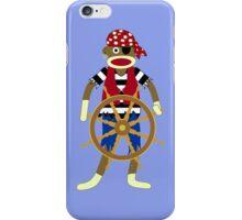 Sock Monkey Pirate iPhone Case/Skin