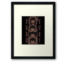 Yuru Yuri Tiki Framed Print