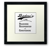 Brickma's Big League Pitcher Key 3 R's - Light Framed Print