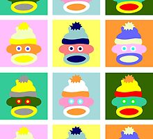 Sock Monkey Pop Art by pounddesigns