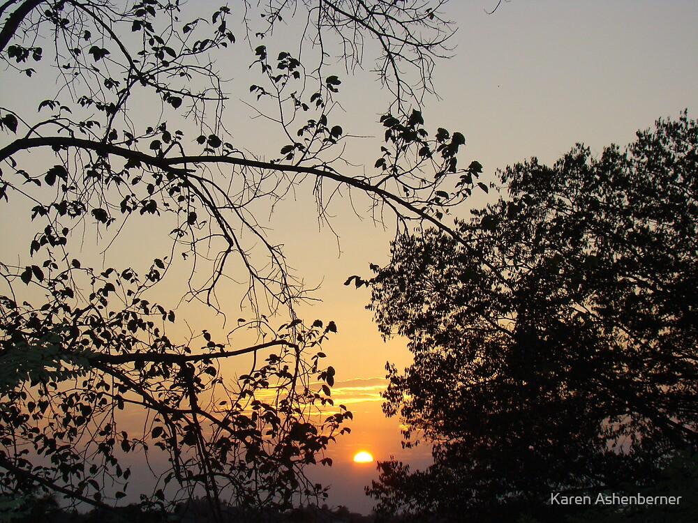 Sunset over the Mediterranean by Karen Ashenberner