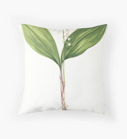 Lily of the Valley - Convallaria majalis Throw Pillow