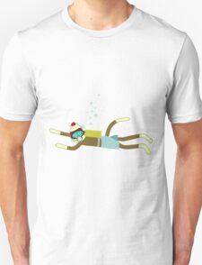 Sock Monkey Scuba Diver Unisex T-Shirt